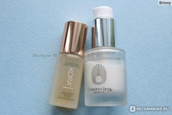 Масло для кожи вокруг глаз KORA Organics Noni Radiant Eye Oil и крем вокруг глаз Omorovicza Reviving eye