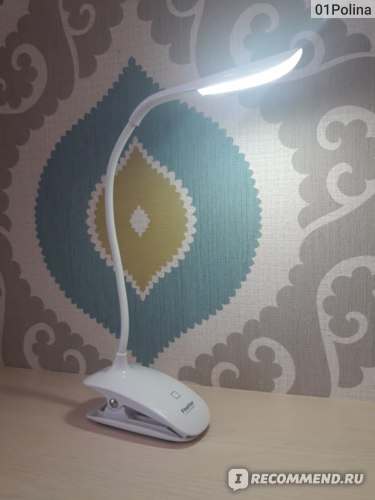 Настольная лампа Aliexpress Fashion Adjustable USB Rechargeable LED Desk Table Lamp Light with Clip Touch Switch Dimmable Student Lamp фото