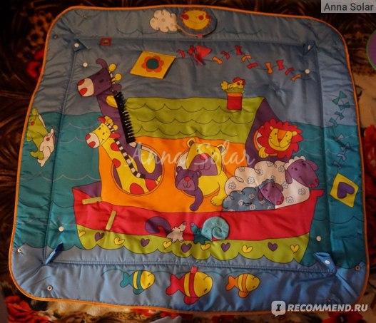 Яркий и красочный рисунок коврика
