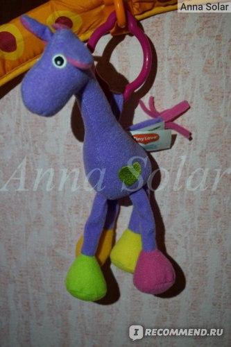 Погремушка фиолетовый жираф