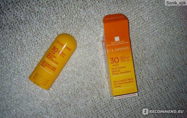 Солнцезащитный стик Clarins SPF 30 для чувствительных участков кожи фото