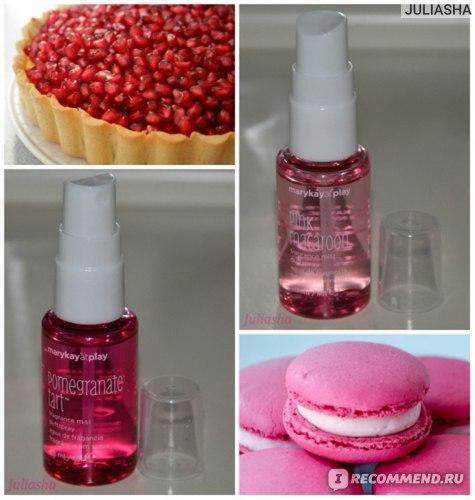 pomegranate tart & pink macaroon