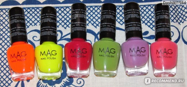 Лак для ногтей M.A.G  фото