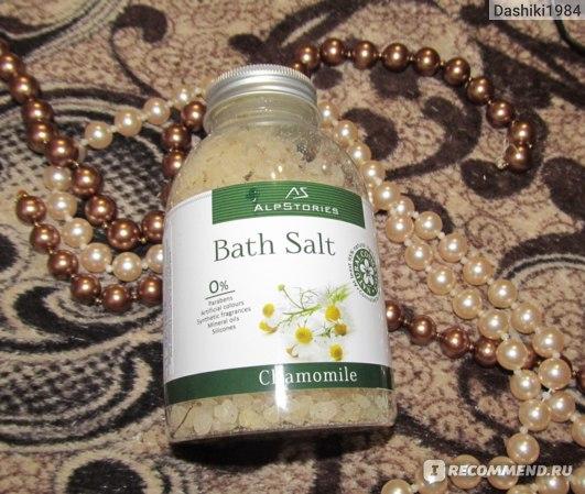 Соль для ванн AlpStories Ромашка - Bath Salt Chamomile фото