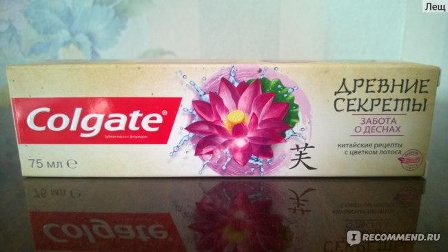 Зубная паста Colgate Древние Секреты Китайские рецепты с цветком лотоса фото