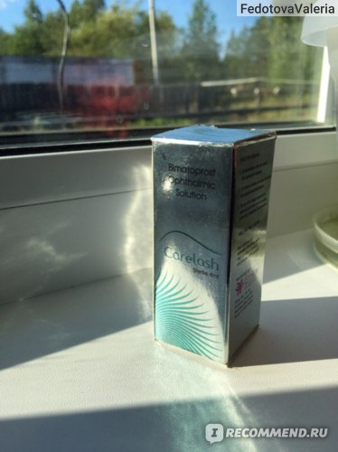 Средство для роста и укрепления ресниц Carelash Bimatoprost ophthalmic solution фото