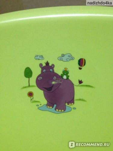 Ванночка OKT Бегемотик (синяя) фото