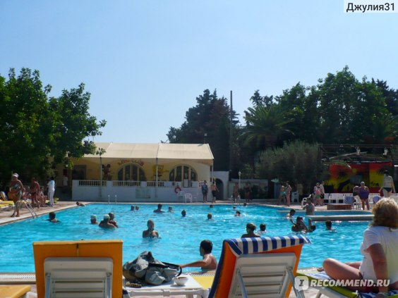 Le Hammamet 4* HOTEL & SPA (ex. Dessole, Тунис). Большой открытый бассейн. Место вечерней анимации.