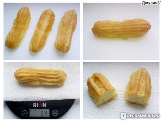 """Пирожное Ермолино """"Эклер"""" с ванильной начинкой (весовой десерт после заморозки) фото"""