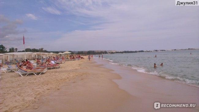 Le Hammamet 4* HOTEL & SPA (ex. Dessole, Тунис). Пляж.