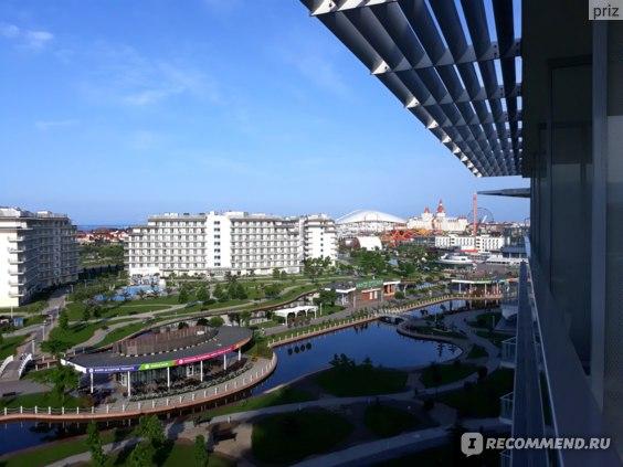Сочи Парк Отель, вид с балкона на Фишт и Богатырь