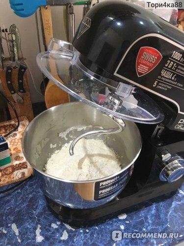 """Кухонная машина поларис """"в действии""""! месим тесто на французский багет - фрустящий и ароматный!"""