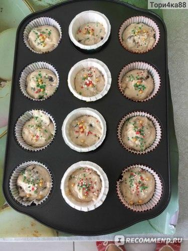 Кексы готовы в духовку!