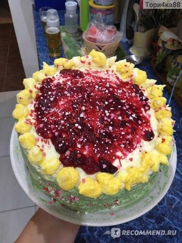Бисквитный торт для лакомки-мужа!