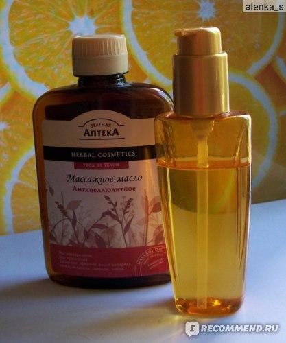 Масло для массажа  Зеленая аптека Антицеллюлитное. фото