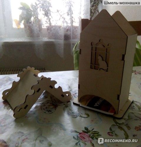 """Домик для хранения чайных пакетиков Lakot """"Кошка на окошке"""" фото"""