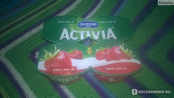 Йогурт Danone Активиа Клубника с бифидобактериями ActiRegularis фото