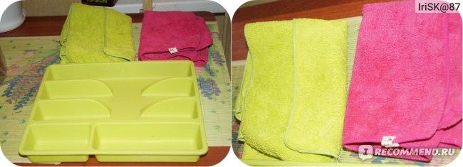 Большие кухонные тряпки из микрофибры/лоток для столовых приборов