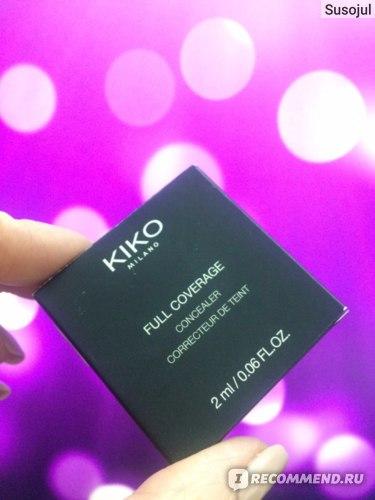 Консилер KIKO Full coverage concealer фото