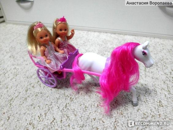 Simba Две принцессы Evi и карета с лошадью фото