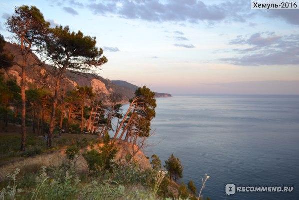 Вид на море между Джанхотом и Прасковеевкой
