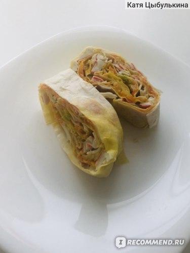 Рецепт рулета из  лаваша с крабовым мясом