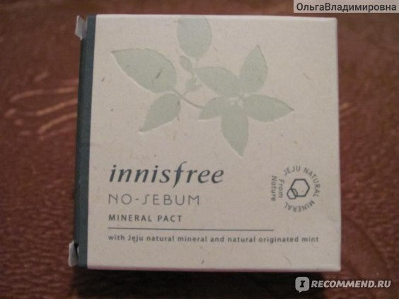 Компактная матирующая пудра Innisfree No Sebum Mineral pact фото