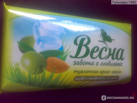 Крем-мыло Весна Олива и миндальное молочко фото