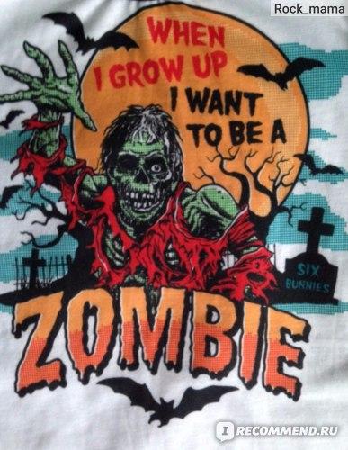 Лонгслив Six Bunnies Zombie raglan фото