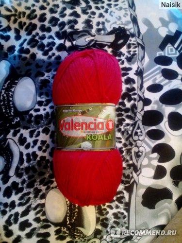 Пряжа для ручного вязания производства Valencia №25682 Koala - красная фото