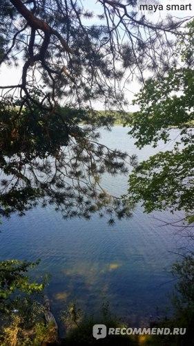 Днем в беседке приятно отдохнуть от жары, глядя на озеро