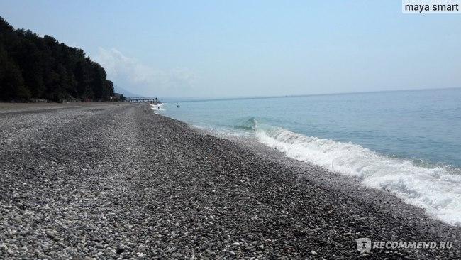 Огромный пляж