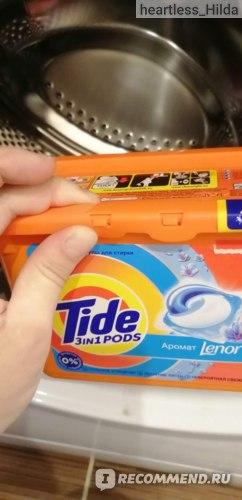 Капсулы для стирки Tide С прикосновением аромата Lenor фото