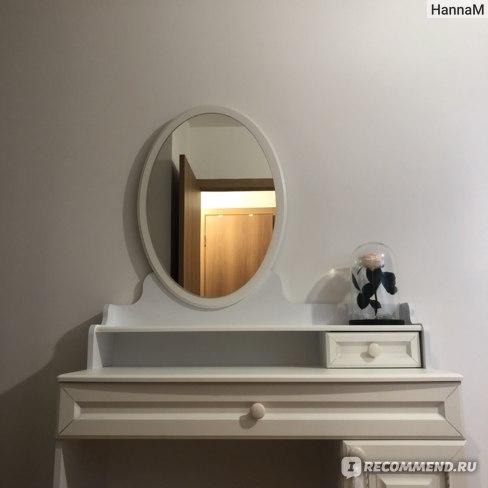 """Туалетный столик с зеркалом  Белла серия """"Мебельсон"""" фото"""