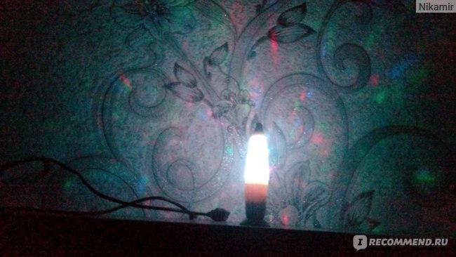 Светильник светодиодный Flarx с мерцающими блестками, переливается разными цветами фото