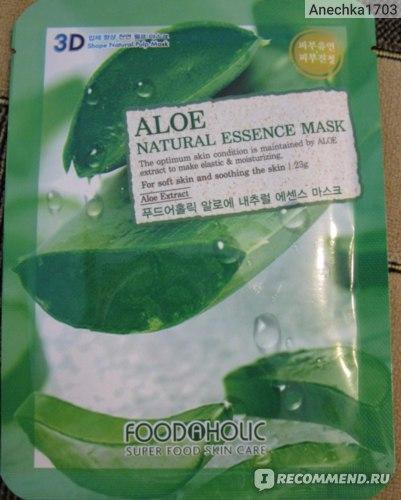 Маска для лица FoodaHolic Aloe Gram Natural Essence 3D Mask фото
