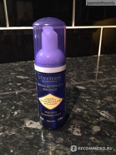 Пенка очищающая для лица L'occitane Immortelle Precious Cleansing Foam фото