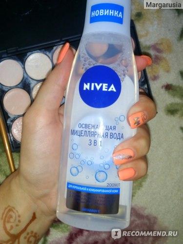 Мицеллярная вода NIVEA Освежающая 3 в 1 для нормальной и комбинированной кожи с витамином Е фото