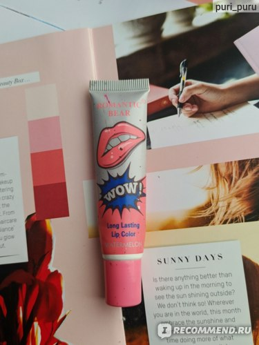 Тинт для губ ROMANTIC BEAR Long Lasting Lip Color WOW