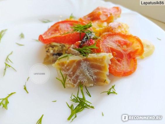 Филе рыбы в духовке с овощами