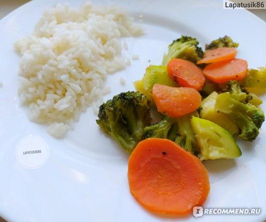 Рис и овощи на пару