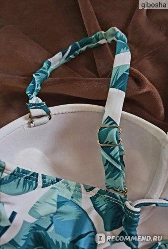 Купальник AliExpress 2018 Sexy High Waist Bikini Swimwear Women Swimsuit Print Biquini Bandage Bathing Suit Padded Bikinis Women Summer Beach Wear фото