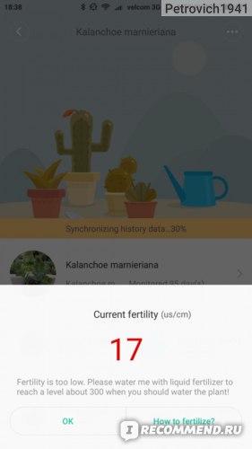 Датчик для растений Xiaomi Mi Flora Monitor Sensor for Garden Plant фото