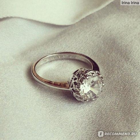 Кольцо Aliexpress Women-Bridal-Wedding-Engagement-Gothic-Crown-Zircon-Gem-Alloy-Ring-Jewelry фото