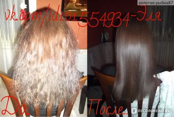 фото моих волос до и после