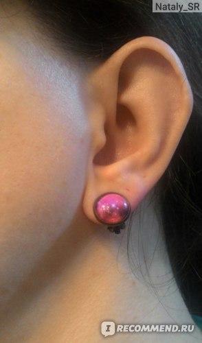 Серьги Aliexpress Women's Galaxy Space Silver Plated French Lever Back Drop Dangle Earrings фото