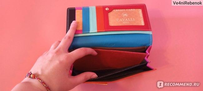Кошелек женский Cavalli Soul Кожаный красный фото