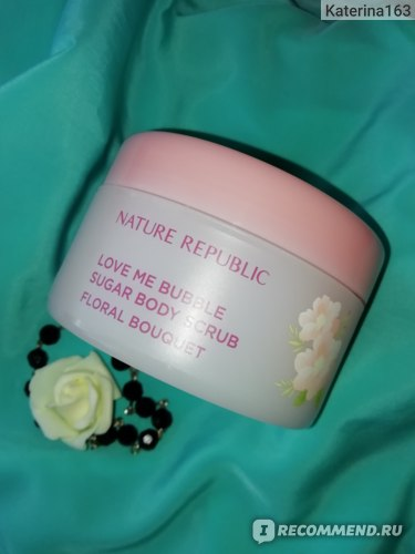 Сахарный скраб для тела Nature Republic Love Me Bubble Sugar Body Scrub (Floral Bouquet)
