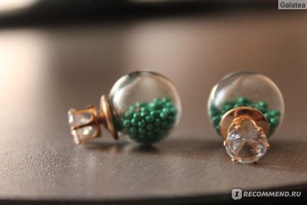 Серьги Aliexpress Пуссеты High Quality Wholesale ! New Fashion Paragraph 2014 Double Side Shining (16mm) Colorful Pearl Stud Earring For Women Hot Sale фото
