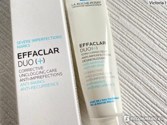 Корректирующий крем-гель для проблемной кожи, против несовершенств и постакне La Roche-Posay Effaclar DUO[+] фото